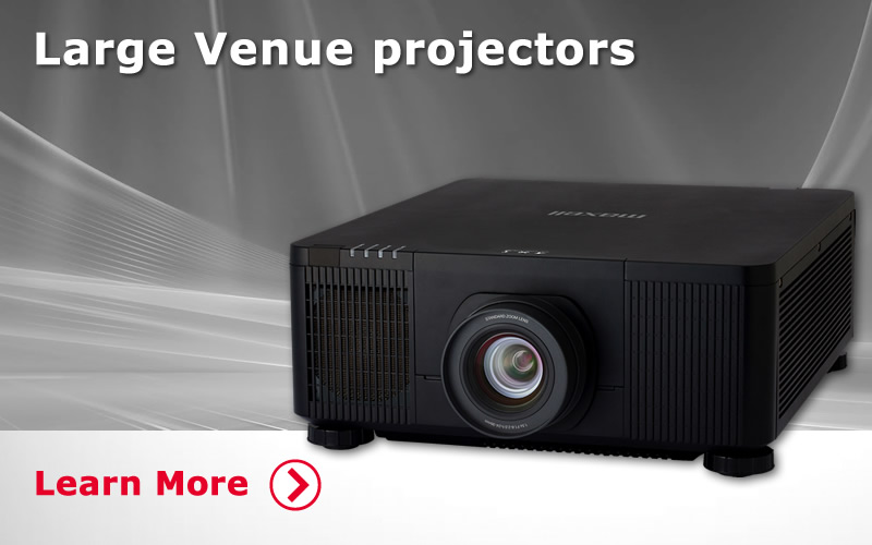 Large Venue Data Projectors. Learn More