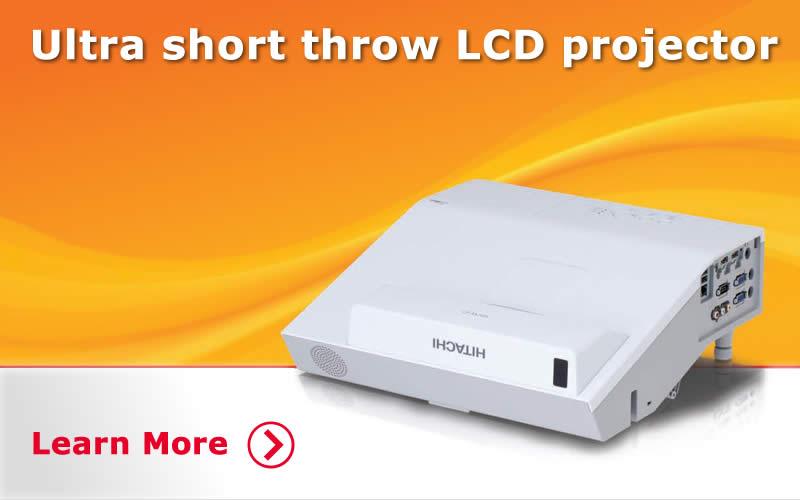 Ultimate Short Throw Data Projectors. Learn More