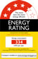Energy Rating 4.5 star