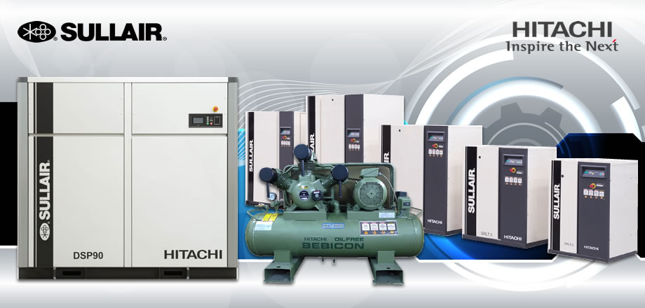 Hitachi high performance air compressors